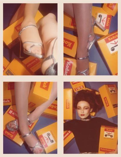 Nina (Shoe Series), 1976, Four 4.5 x 3.25 inch unique vintage Kodak prints