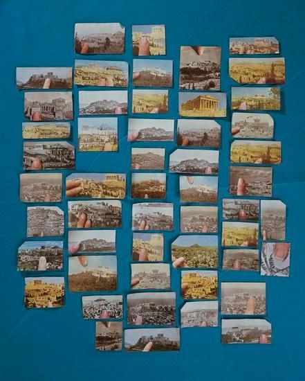 Sara Cwynar, 	Encyclopedia Grid (Acropolis), 2014