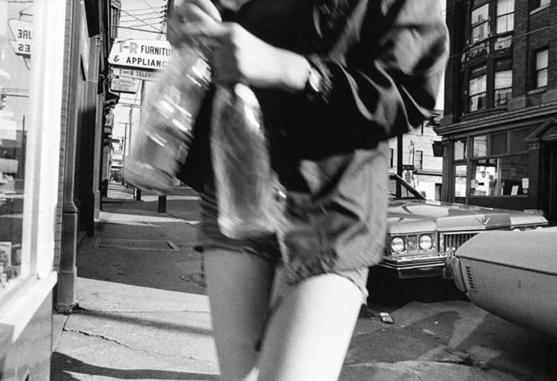 The Girl with Eight Sections, April 1973, 16 x 20 inch vintage gelatin silver print