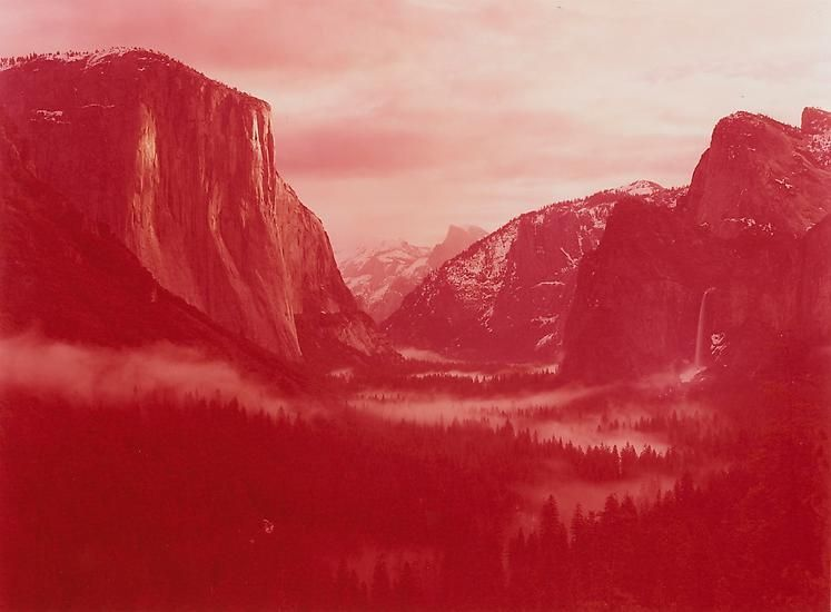 Winter Sunrise over Yosemite Valley, Yosemite, California, 2013., 30 x 40 inch c-print