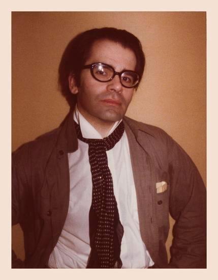 Karl Lagerfeld. 1976, 4.5 x 3.25 inch unique vintage Kodak print