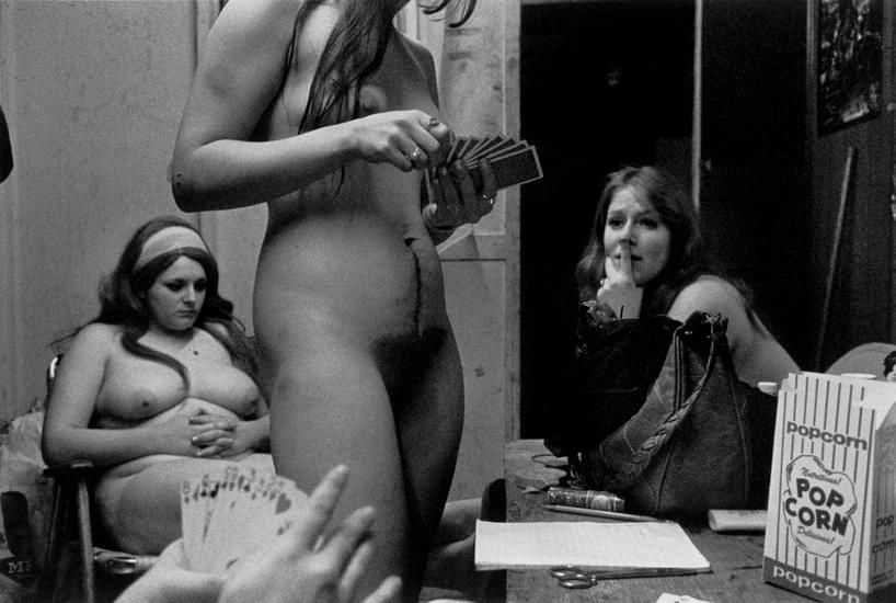 "The dressing room, Fryeburg, ME, 1975, 	From ""Carnival Strippers"""