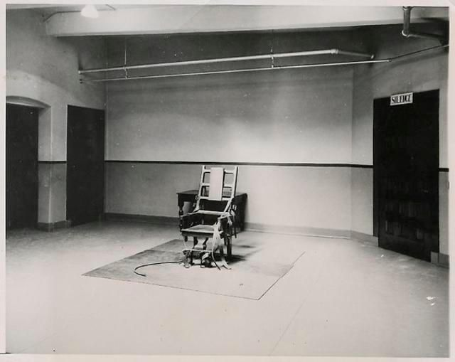 ANONYMOUS Sing Sing Electric Chair.  1953.