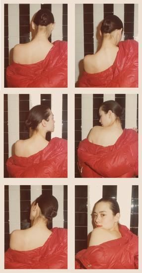 Tina Chow. 1975, 	Six 4.5 x 3.25 inch unique vintage Kodak prints