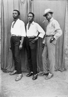 Seydou Keita. Three Young Men from Mali. c.1954/printed 1996.