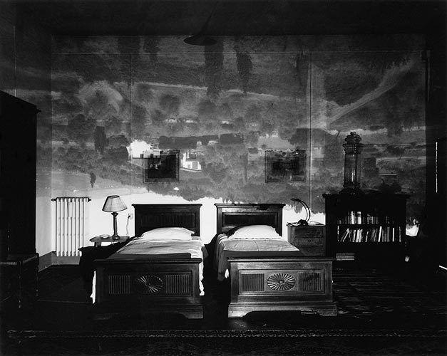 Tuscan Landscape in Large Bedroom, Florence 2000