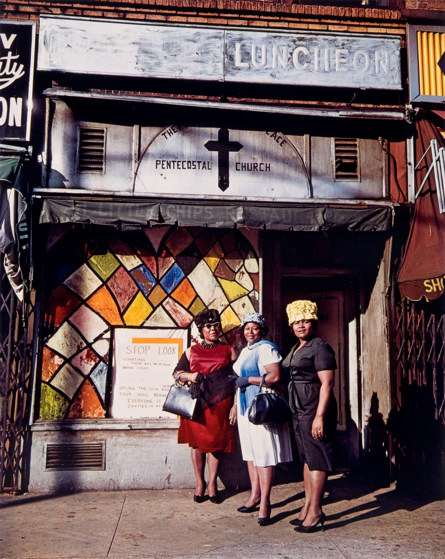 Harlem Church, New York. 1964, 20 x 16 inch dye transfer print