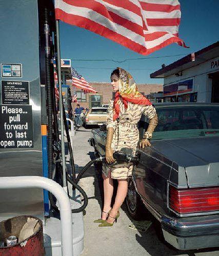 Fashion Shoot (Flag), New York, 1999