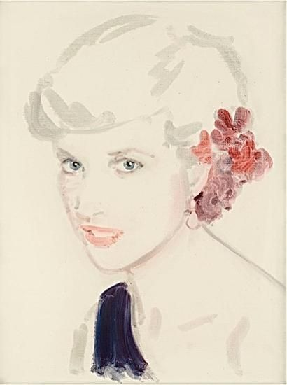 "Princess Diana.  From the series ""All About Eve"".  Oil on paper.  16 x 12 inches."
