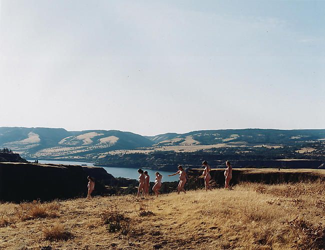 Justine Kurland, Walking the Rowena Dells, 2007, 30 x 40 in.