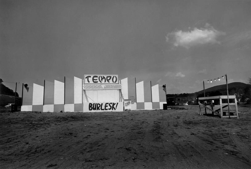 "End of the lot, Essex Junction, VT, 1973, 	From ""Carnival Strippers"""