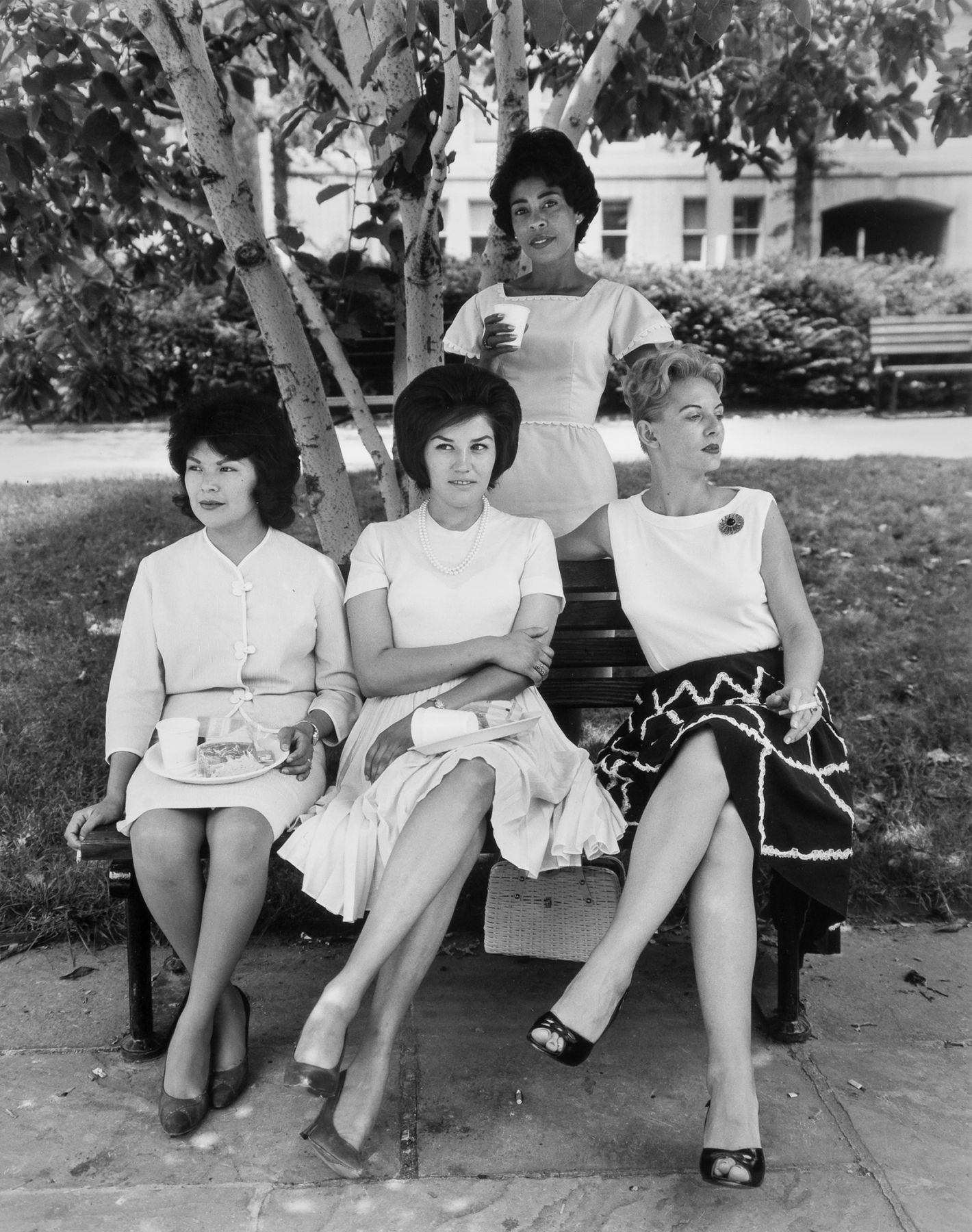 Secretaries in Rawlings Park, Washington D.C. 1965, 20 x 16 inch gelatin silver print