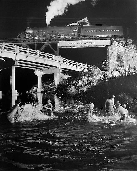Hawksbill Creek Swimming Hole. Luray, Virginia. 1956
