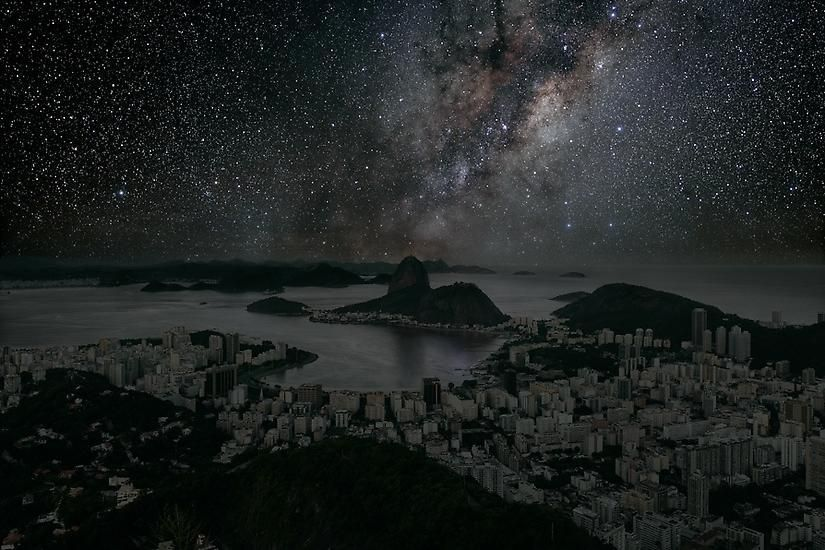 Rio de Janeiro 22° 56' 42'' S 2011-06-04 lst 12:34, 	26 x 40 inch pigment print - Edition of 5