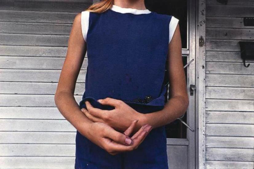 Girl Holding Blackberries, Wilkes-Barre, PA, 1975, 14 x 17 inch dye transfer print