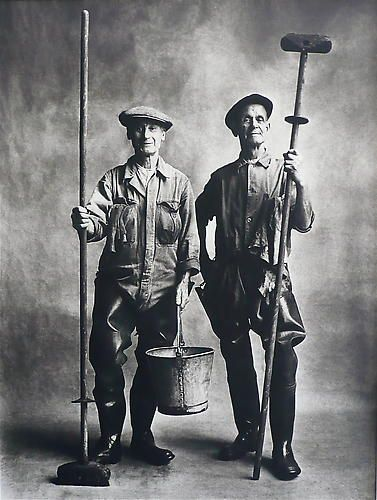Irving Penn Lorry Washers, London.  1950