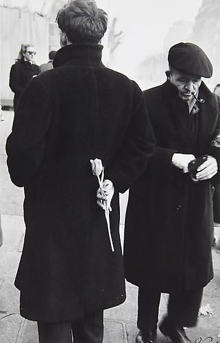 Robert Frank. Paris. New Year, 1949. (Man with Tulip).