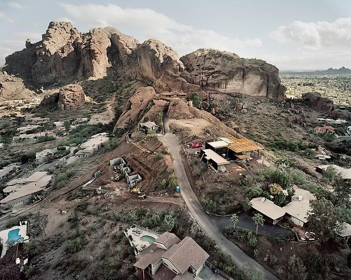 New Construction on East Porter Drive, Camelback Mountain Beyond, Scottsdale, AZ; 2007, 	24 x 30 inch pigment print - Edition of 5