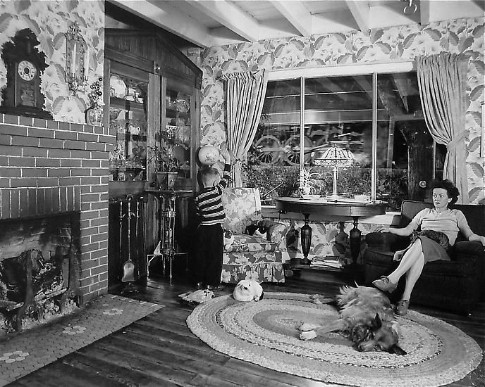 Living Room on the Tracks, Lithia, Virginia, 1956
