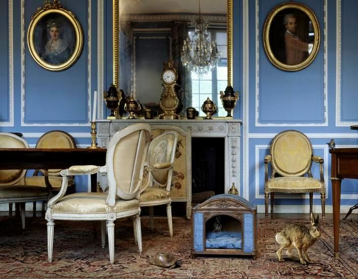 The Blue Salon Louis XVI (3), 2006, 27 x 35 inch archival pigment print