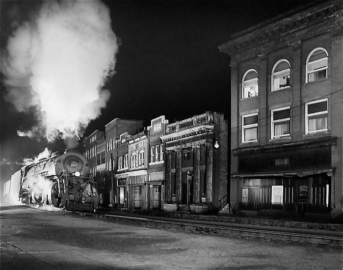 Main Line on Main Street, North Fork, West Virginia, 1958