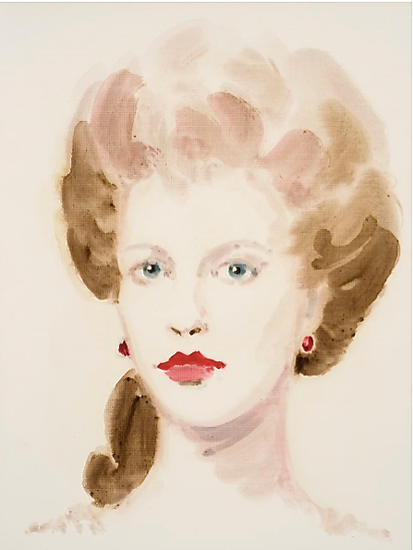 "Alice Keppel.  From the series ""All About Eve"".  Oil on paper.  16 x 12 inches."