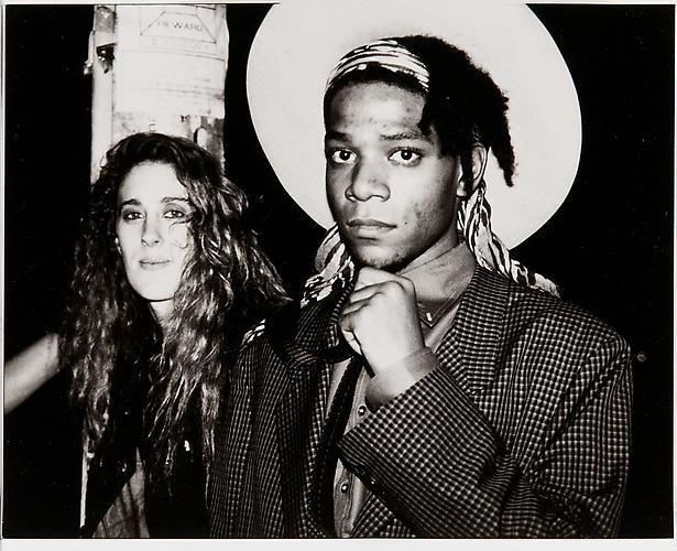 Jean-Michel Basquiat and Jennifer Goode, c. 1985.