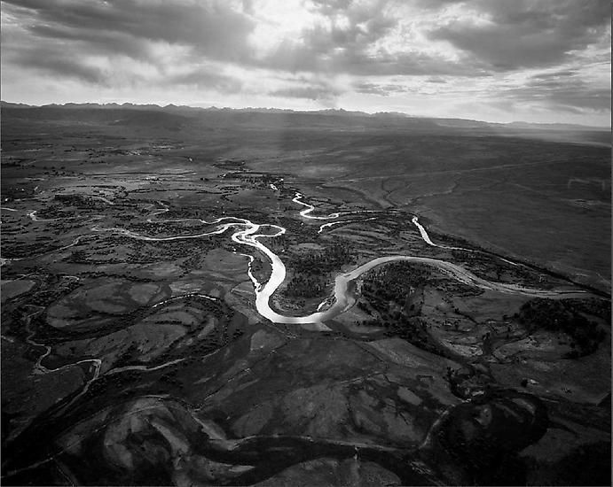 Upper Green River Looking Southeast, Near Pinedale, WY; 2007, 	24 x 30 inch pigment print - Edition of 5