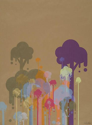 Ryan McGinness, Untitled 5 (Ice Cream Trees), 2007, 50 x 39 in.