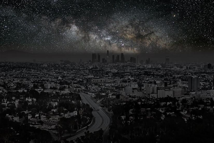 Los Angeles 34° 06' 58'' N 2012-06-15 lst 14:52, 	39 x 60 inch pigment print - Edition of 3