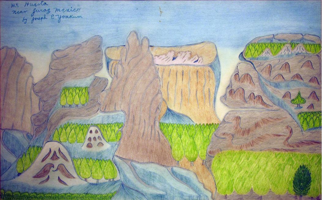Joseph Yoakum, Mt. Huerta near Juraz Mexico,c. 1970