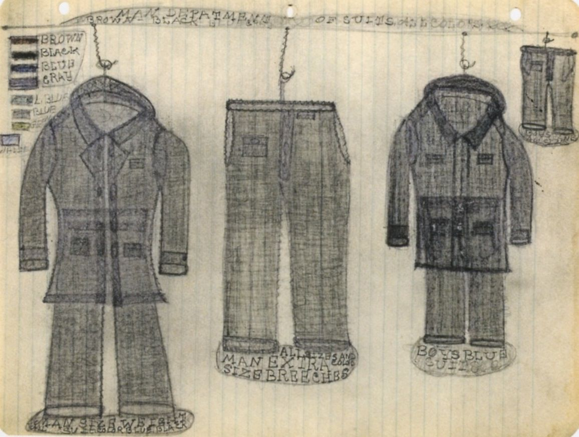 Pearl Blauvelt Man Department of Suits, c. 1940