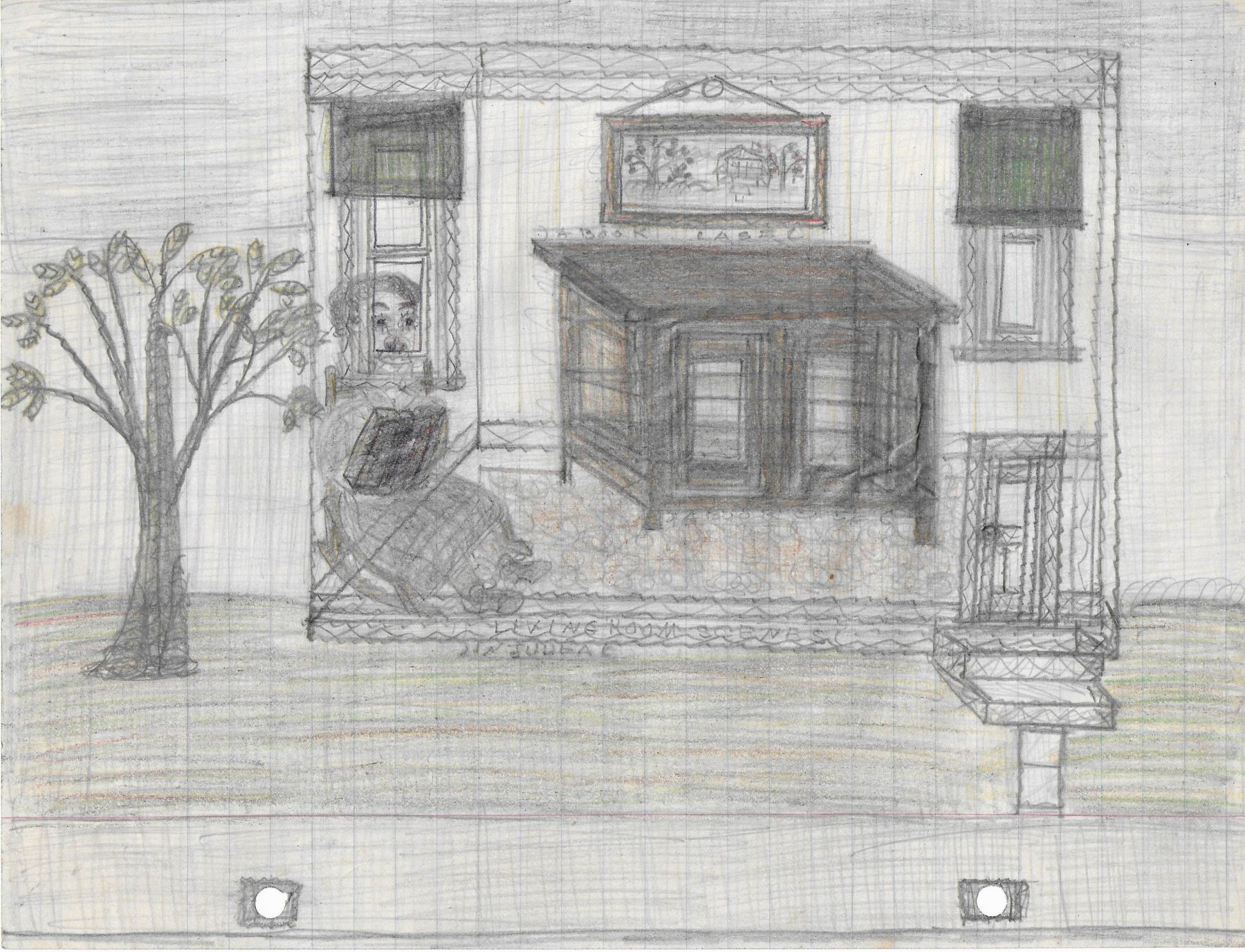 Pearl Blauvelt, Untitled (Living Room Scenes in Judea),c. 1940