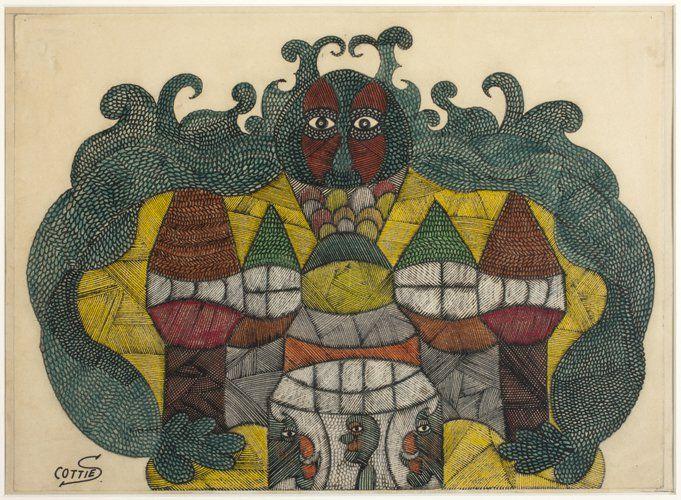 Scottie Wilson(1888-1972) United Kingdom, Untitled, c. 1940,11.5 x 15in