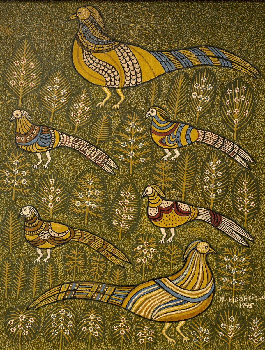 Morris Hirshfield Pheasants, 1945