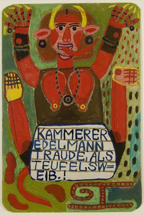 August Walla, Edeltraude Kammerer as Devil's Woman,1992