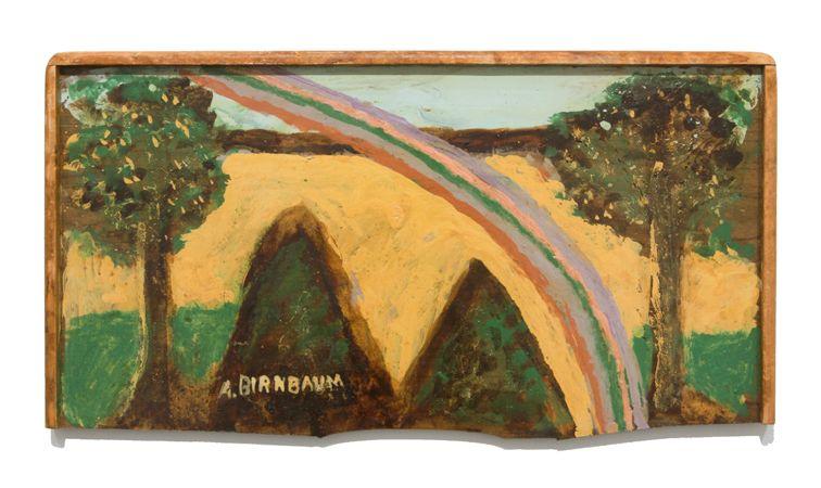 Aaron Birnbaum Untitled [Landscape with rainbow], c.1980