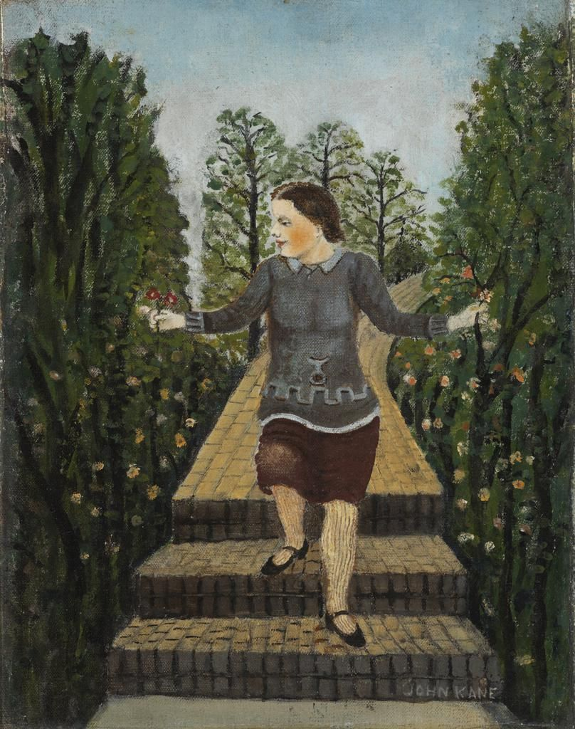 John Kane Girl Coming Down Garden Steps, n.d.