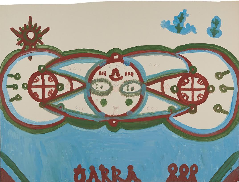 Tarcisio Merati(1934-1995) Italy, Aeroplanino / Small Plane, n.d., Tempera on paper, 30 x 39.5 in