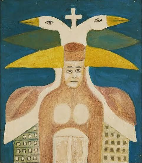 Sava Sekulić(1902-1989) Croatia, Queen Bajavitovica, 1974, Oil on canvas, 16.25 x 13.75 in