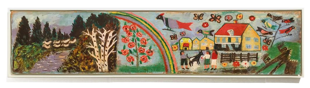 Aaron Birnbaum Untitled [Beautiful home with rainbow], c.1985
