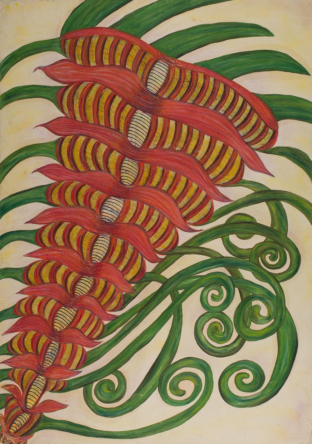 Anna Zemánková(1908-1986) Czech Republic, Untitled, early 1960s, Pastelon paper, 34.5x 24.5 in