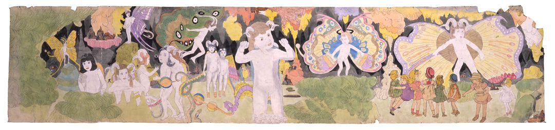 Henry Darger Untitled (At Jennie Richee narrowly escape capture when attacked.