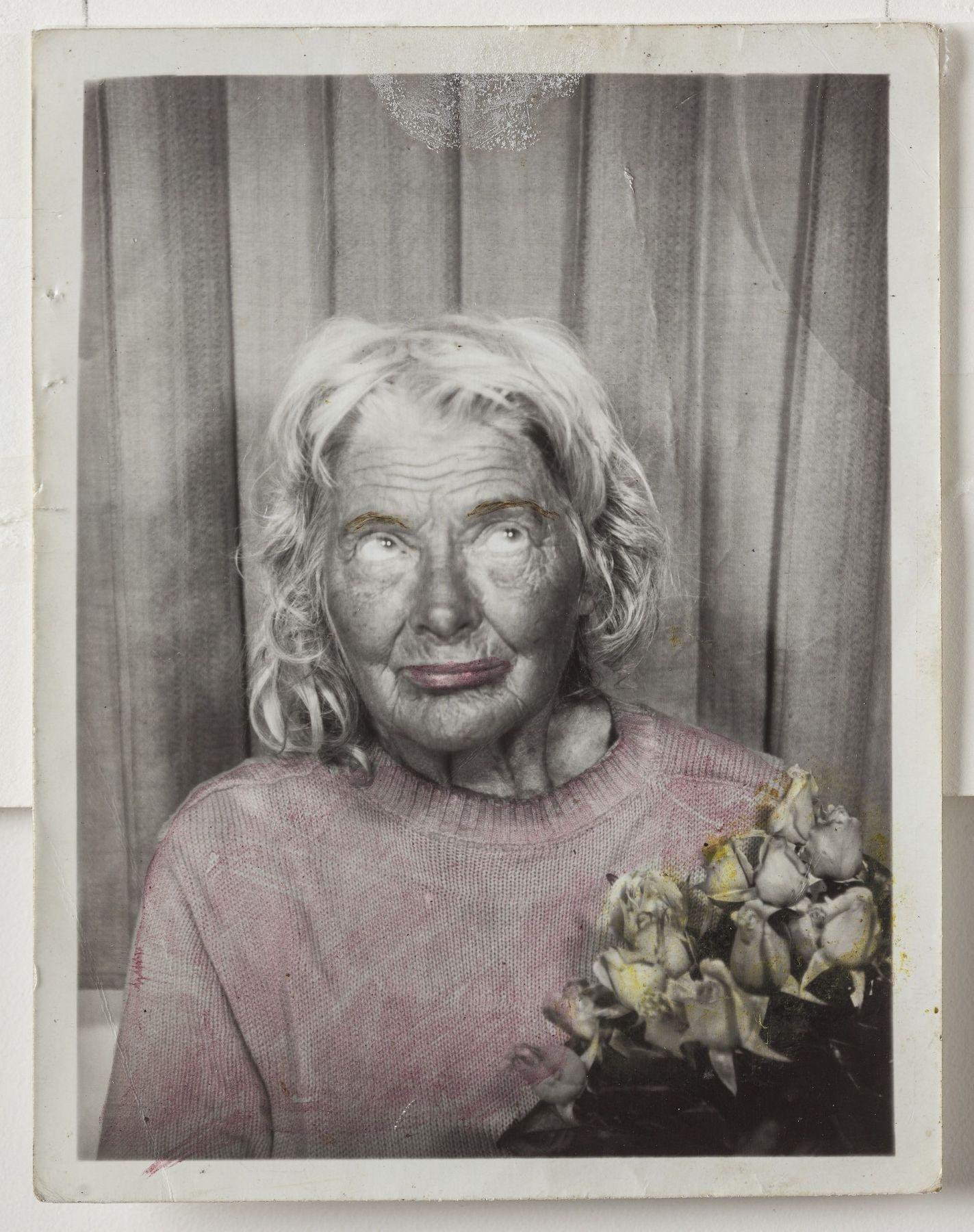 Lee Godie Untitled (12 photobooth self-portraits, detail), n.d.