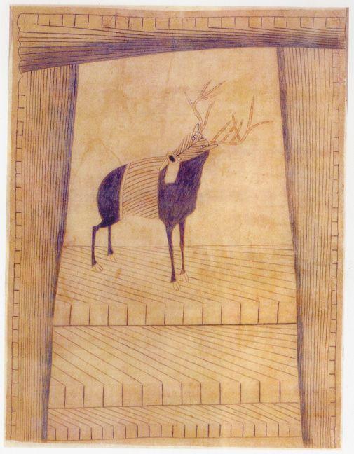Martín Ramírez Untitled (Stag), c. 1953