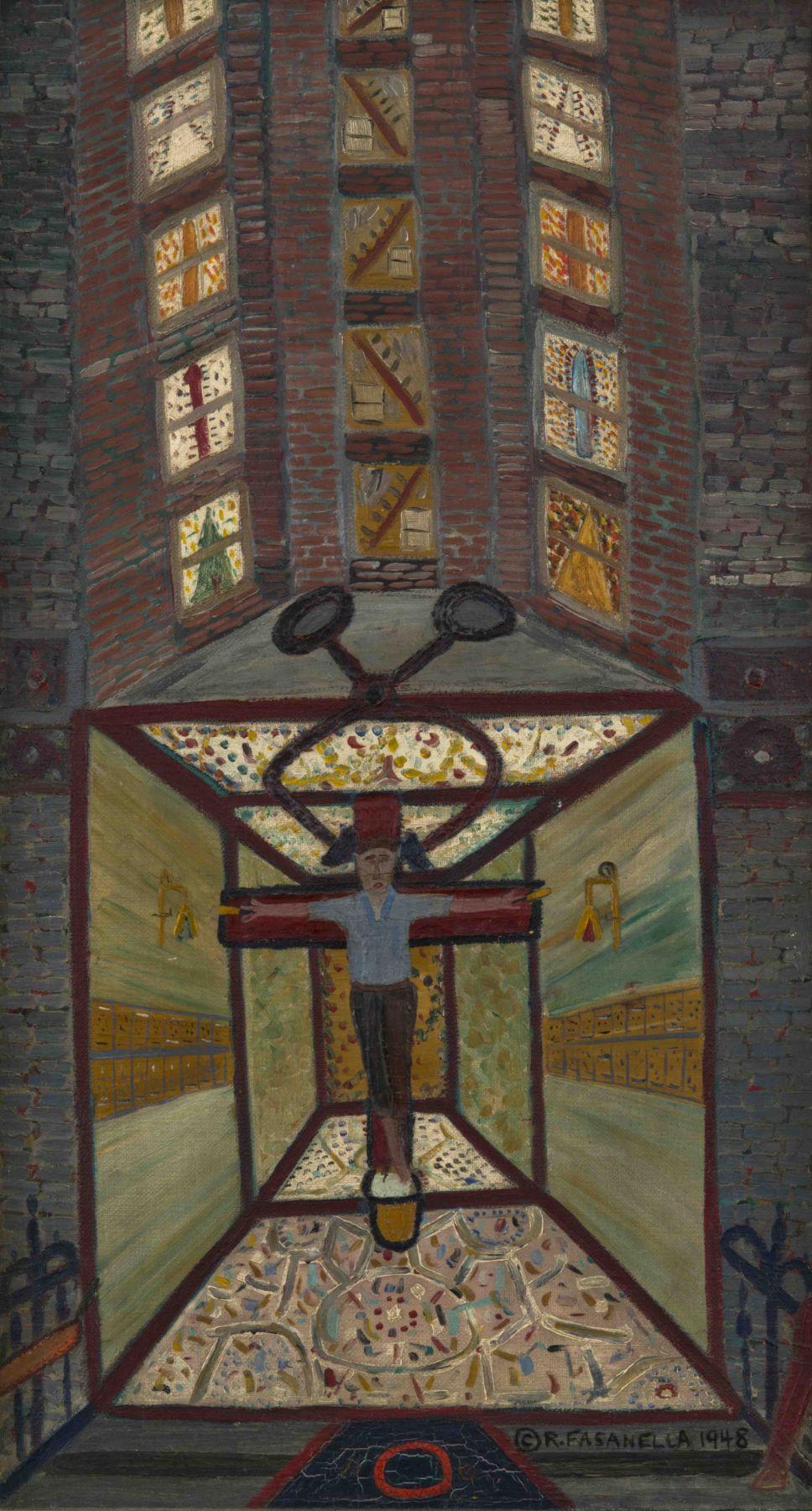 Ralph Fasanella Iceman Crucified #1, 1948