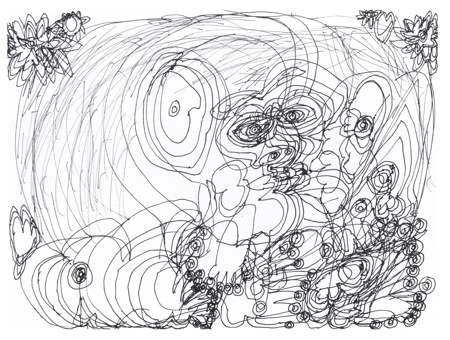 Dwight Mackintosh(1906-1999) USA, Untitled, 1994, Ink on paper, 11 x 15 in