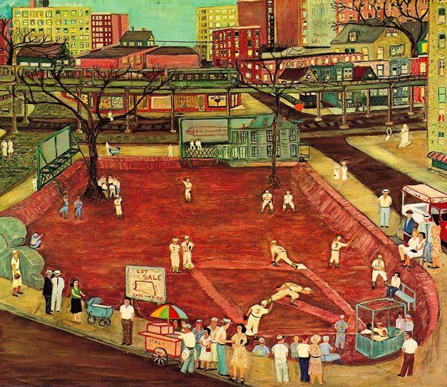 Ralph Fasanella Sandlot Baseball, 1954