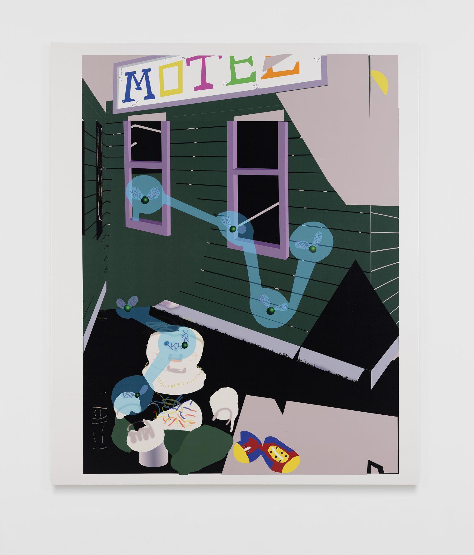 Michael Williams Green Inkjet Painting, 2018