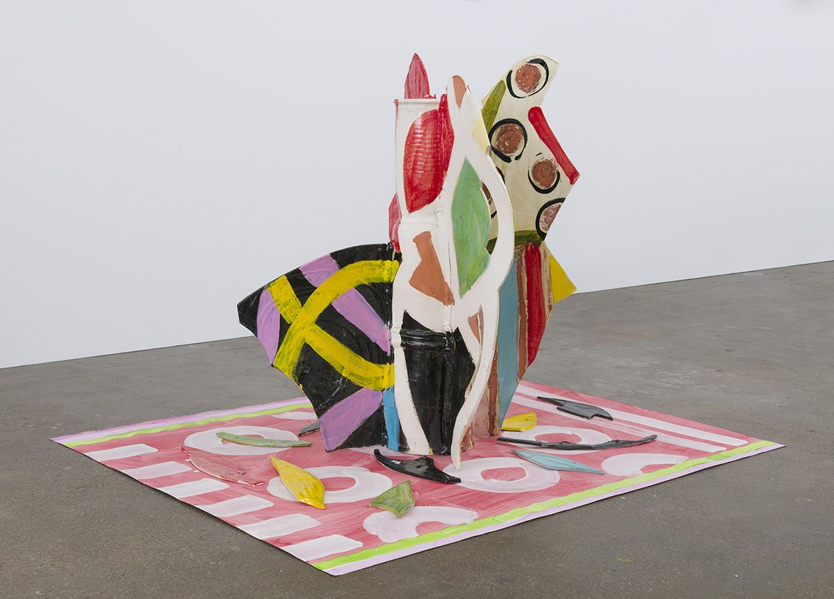 Betty Woodman, Aztec Vase and Carpet #8, 2015